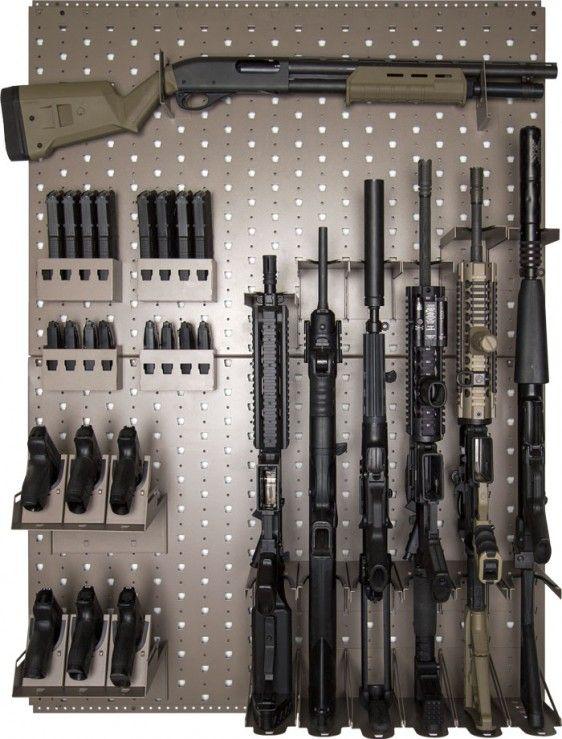 "Rhino Vault Gun Rack. Wayne: I don't even own ""a"" gun, let alone many guns, that would necessitate an entire rack."