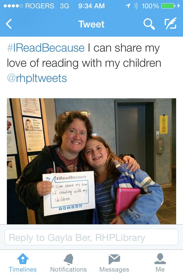 #IReadBecause I can share my love of reading with my children.