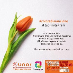 Colora di arancione il tuo Instagram