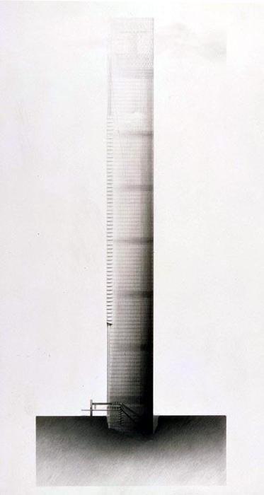 'La Tour Sans Fin' by Jean Nouvel, unbuilt, Planned for La Defense