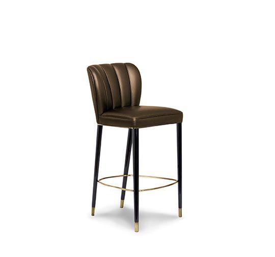 Barstuhl | Messing Beistelltisch | Modernes Design | Minimalismus Design |  Minimalist Decor | Designer Möbel
