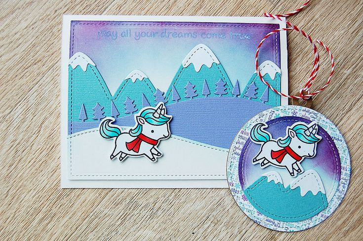 With Winter Unicorn by Lawn Fawn