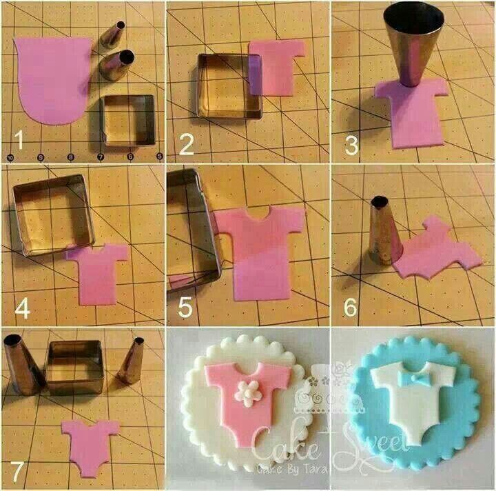 Baby themed cupcake topper