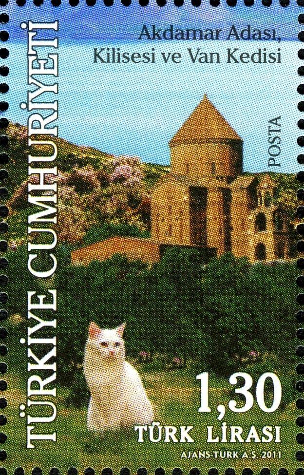 turkish van cat stamp.