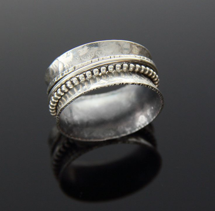 Custom Sterling Silver Spinner Ring by glasskatz on Etsy, $68.00
