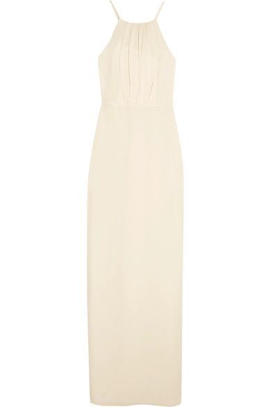 Halston Heritage - Draped Georgette Gown - Cream - US