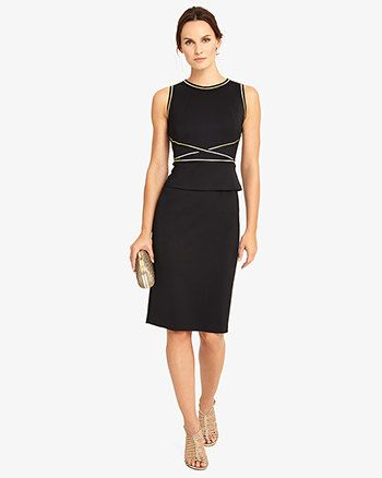 Phase Eight Freya Peplum Dress Black