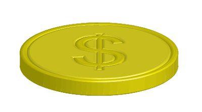 Adobe Illustrator - darmowe tutoriale: Jak namalować monetę korzystając z 3D tools.