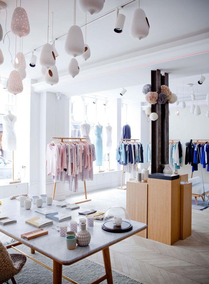 marie sixitine store by studio janr ji paris france retail design blog lingerie store. Black Bedroom Furniture Sets. Home Design Ideas