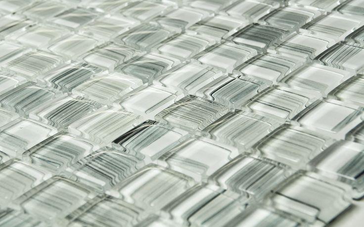 CC Höganäs Kristallmosaik - Vit Streckmix   Stonefactory.se