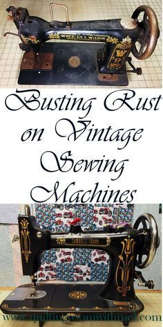 A little (or a lot) of rust doesn't have to mean the end of a vintage sewing…