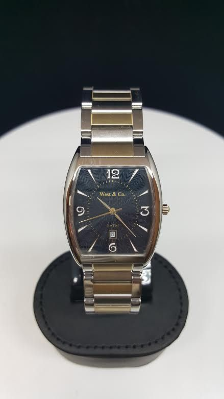 West and Company Gents Watch Two Tone Gold & Silver and Blue Face