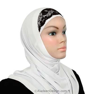 Hat cap under scarf Headband NEW lace