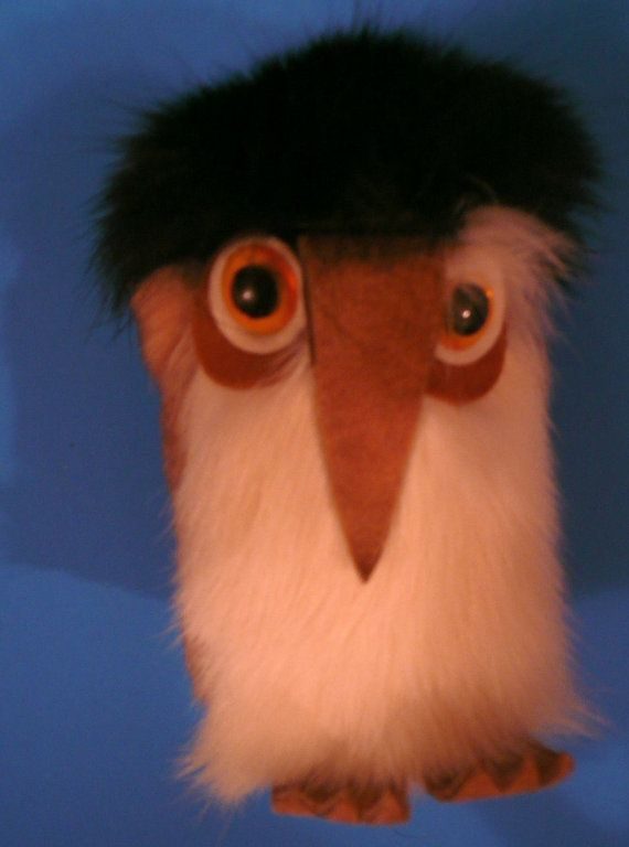 SALE Vintage Ookpik with Fur Big Eyed Bird Fur OWL by Tasteliberty, $25.00