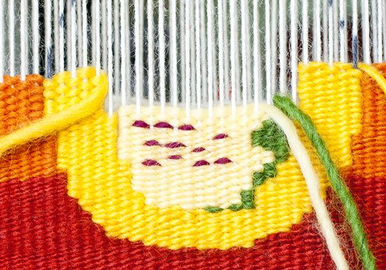 Intro to Tapestry Class on CraftArtEdu: Making a circle