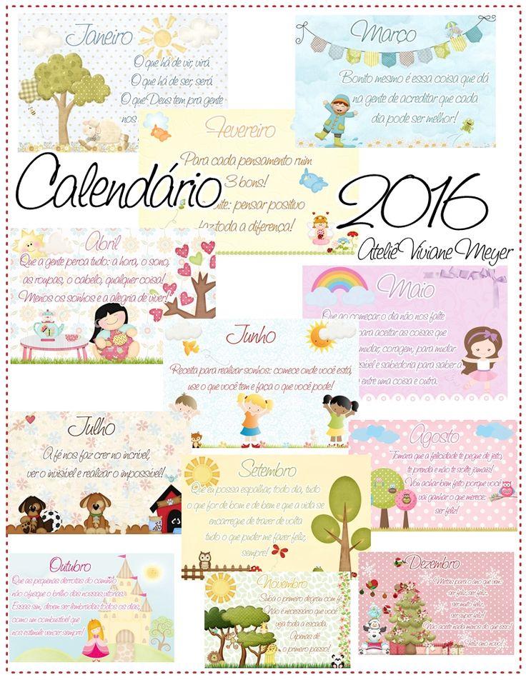 Vida de Artesã: Calendário para imprimir 2016