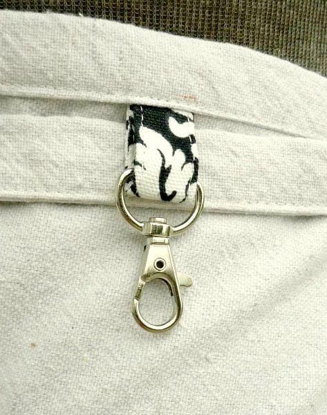 Negro Natural Damasco medio delantal con bolsillos  vendedor