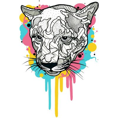 Puma. Digital Illustration. Print by Casiegraphics. www.casiegraphics.com #casiegraphics