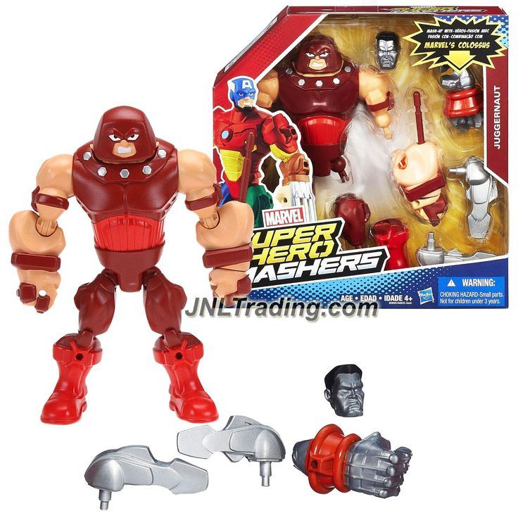 Hasbro Year 2015 Marvel Super Hero Mashers Upgrade Your Mash-Up 6 Inch Tall Figure - JUGGERNAUT with Fist Launcher Plus Colossus' Head and Right Hand