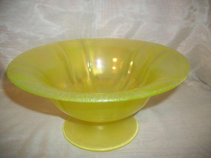 Vintage Yellow Canary Stretch Vaseline Uranium Glass
