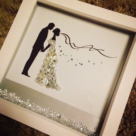 Wedding button box frame by HandmadeByHanlw on Etsy