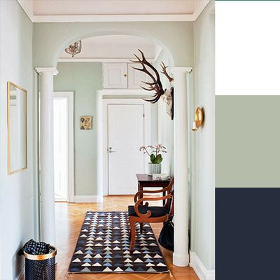 6 fresh color palettes for spring sea foam navy color for Seafoam green home decor