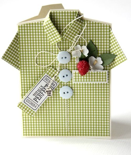 Shirt card patternShirts Cards, Ideas, Masculine Birthday Cards, White Shirts, Masculine Cards, Cards Pattern, Buttons, Shirts Pattern, Fathers Day Cards
