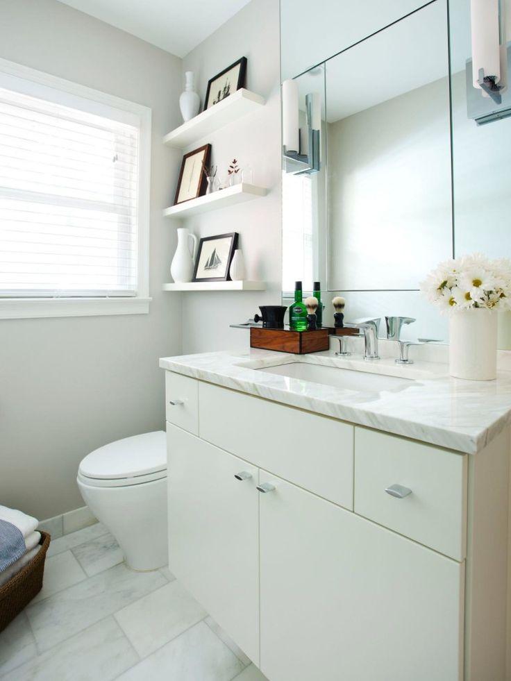 and shelf with stock toiletries cosmetics photo white bathroom