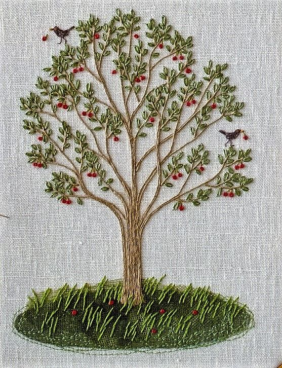 Embroidered Cherry Tree.