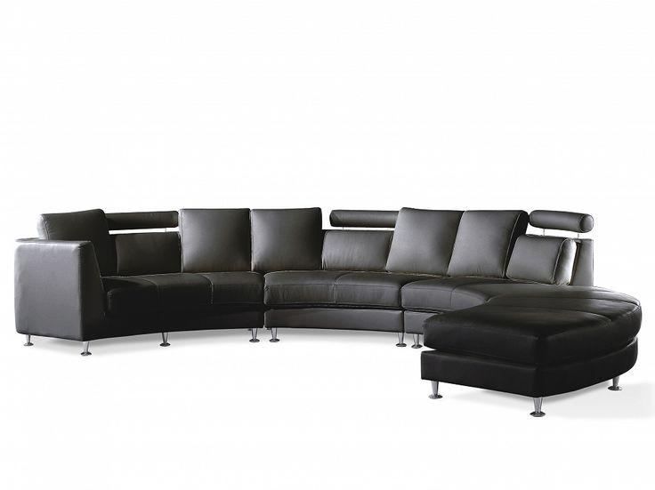 Ronde bank – Leren bank – Leren sofa – Lederen bank in zwart – ROTUNDE