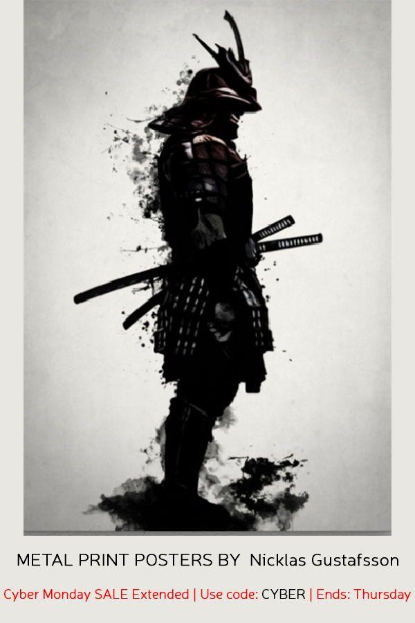Armored Samurai Poster Print By Nicklas Gustafsson Displate In 2020 Samurai Warrior Tattoo Samurai Artwork Samurai Art