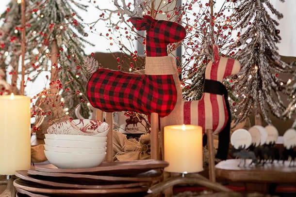 mesa posta de natal da pottery barn