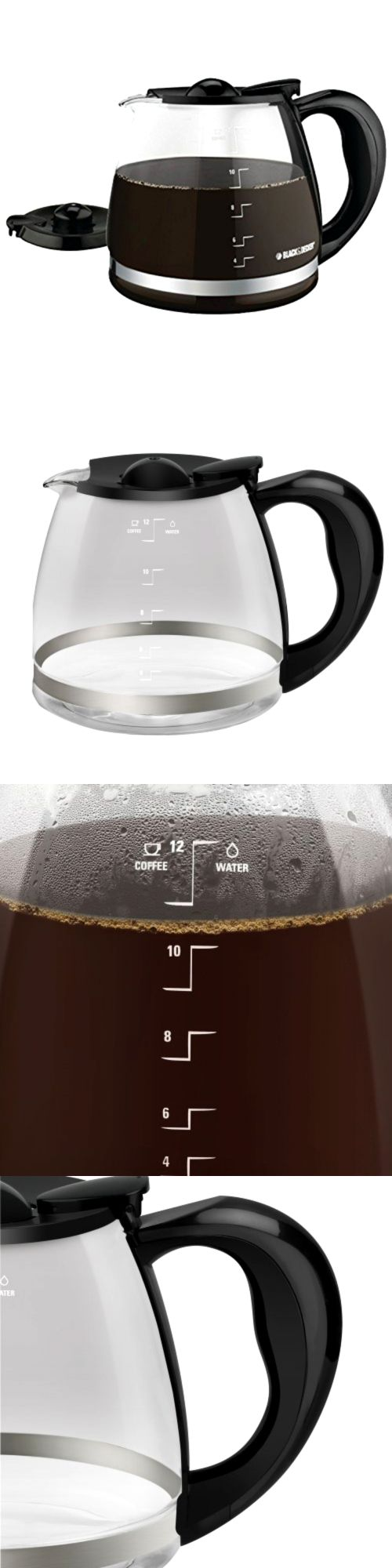 Replacement Parts and Accs 99565: Black And Decker Coffee Pot 12 Cup Glass Replacement Carafe Espresso Maker Handl -> BUY IT NOW ONLY: $53.5 on eBay!