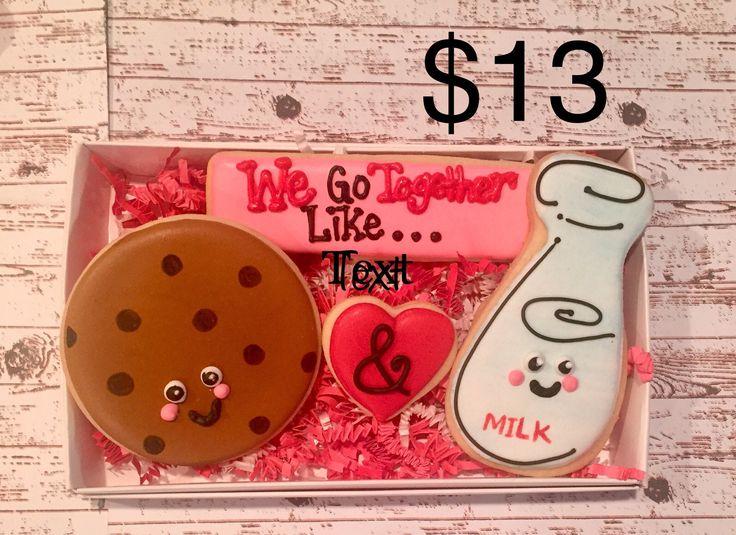 Valentine's Day Sugar Cookies/ Decorated Sugar Cookies / gift ideas / valentine's Gifts by DPSweets on Etsy https://www.etsy.com/listing/571986170/valentines-day-sugar-cookies-decorated
