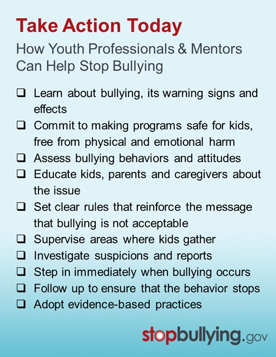 How you can stop bullying