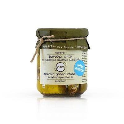 ''ΥΙΑΜ'' Grilled Manouri Cheese in Olive Oil