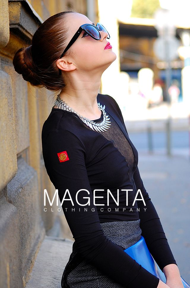 Magenta Top 40 €, Magenta Skirt 54 € #magenta #magentafashion #top #skirt #'80s  #80s #women #fashion #womenfashion #fall #lady