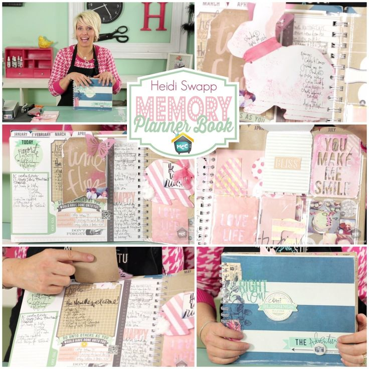 """Heidi Swapp: Memory Planner Book - Join Heidi Swapp as she shows you fun ways to add extra """"stuff"""" and extra surfaces to write on and embellish your Memory Planner. Remember your 365 days starts now! http://www.mycraftchannel.com/Shows/Craft-Tips-Show/Craft-Tips-How-to-Store-Paint/"""