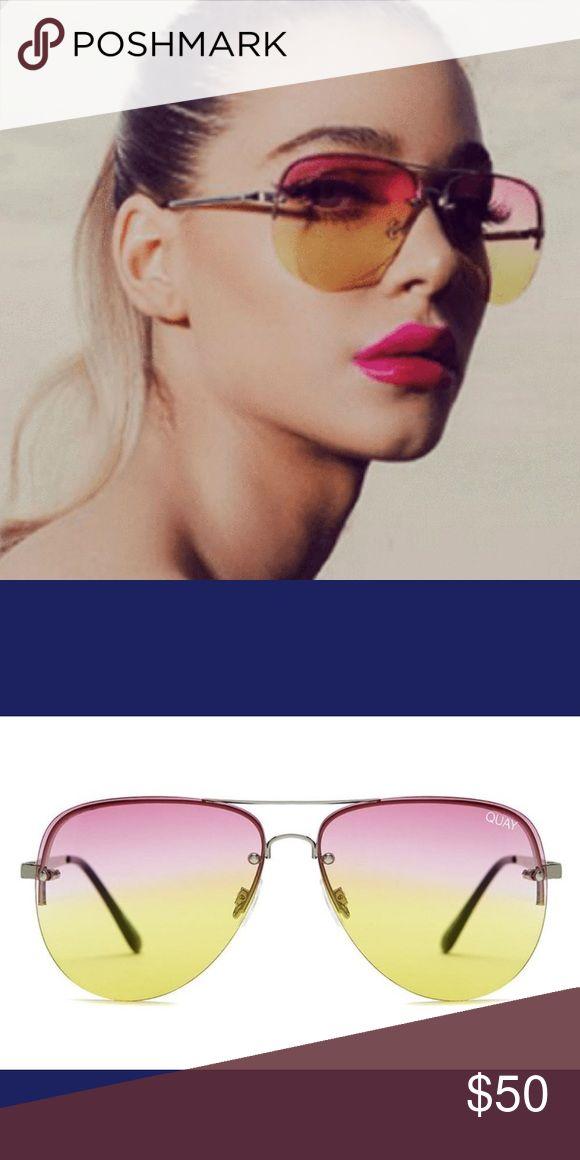 2795a3beb9f33 QUAY Australia Muse Pink Yellow Fade Sunglasses Boutique