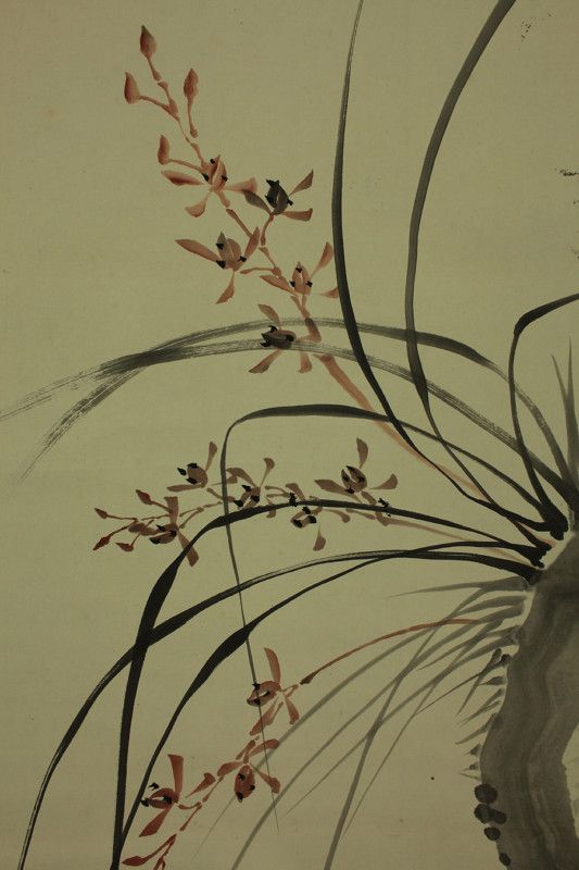 orchid japanese painting - Buscar con Google