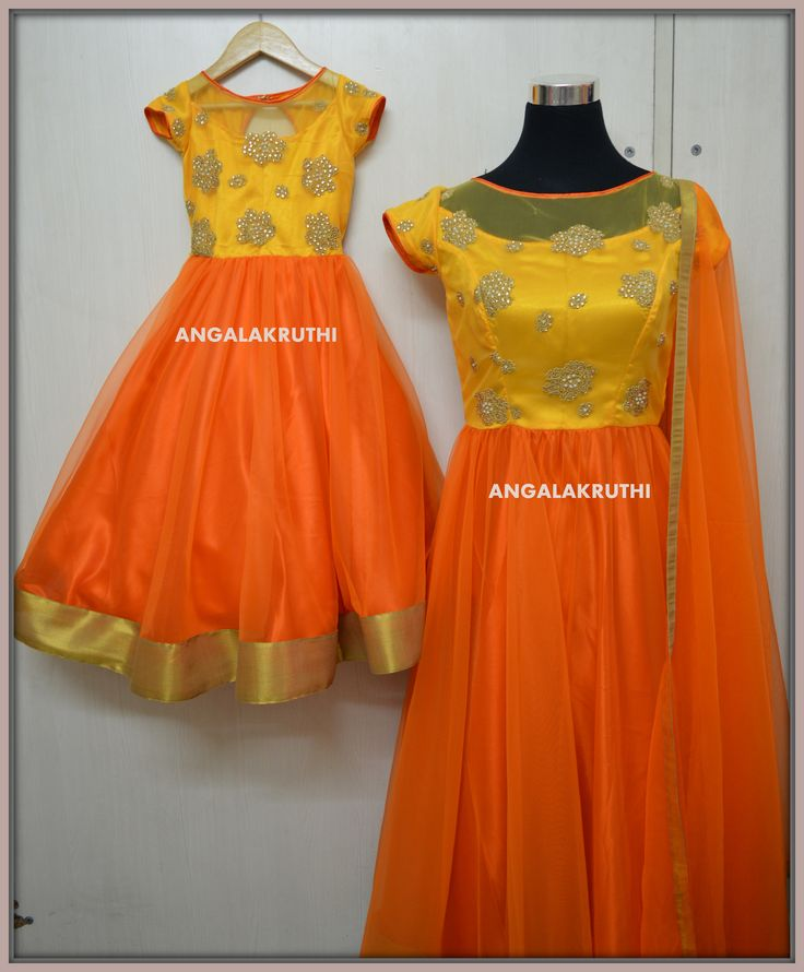 Mom and Me Designs by Angalakruthi- Ladies and kids boutique in Bangalore #mom and daughter matching dresses