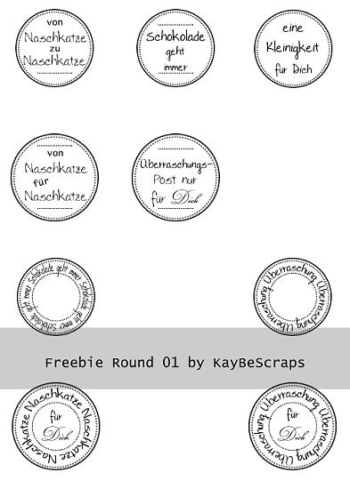 KayBeScraps: Freebies - runde Labels in deutsch