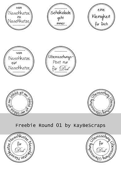 KayBeScraps: Label Freebies für euch..                              …