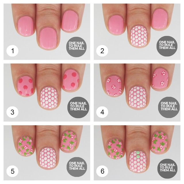 9 best nail art designs step by step images on pinterest nail one nail to rule them all tutorial tuesday rose polka dots find this pin and more on nail art designs step prinsesfo Gallery