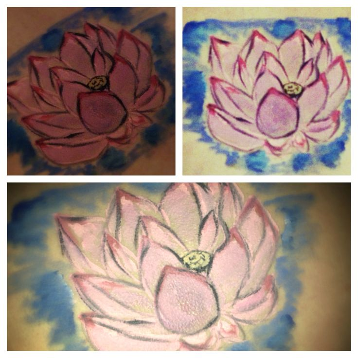 Lotus flower body art