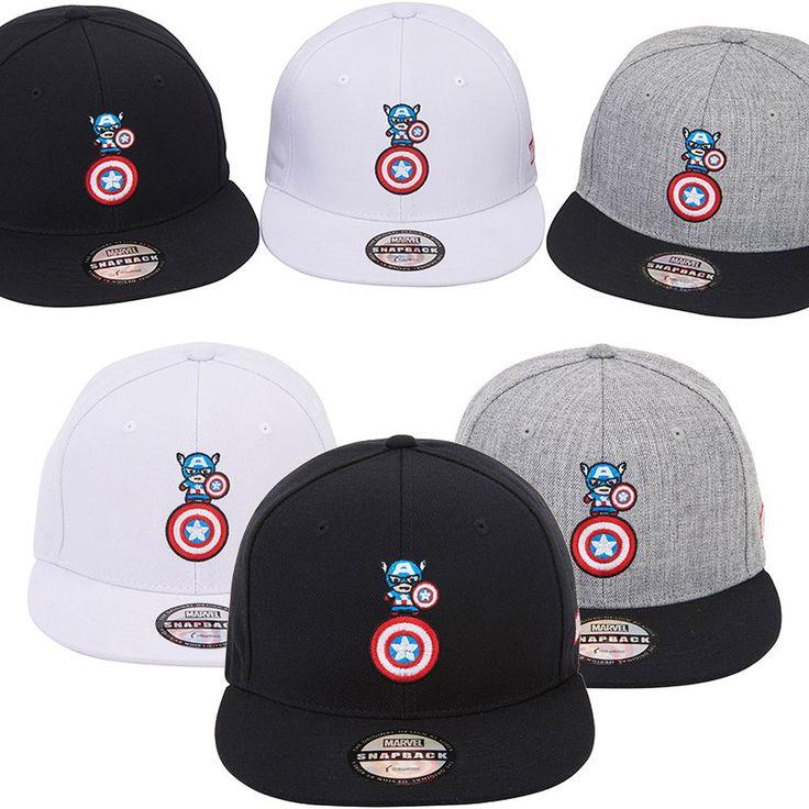 Mens Marvel Avengers Civil War Captain America Wing Baseball Snapback Hats Caps #Marvel #BaseballSnapbackCapHats