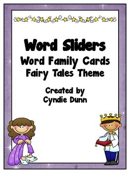 Word Family Word Sliders - Fairy Tales Theme