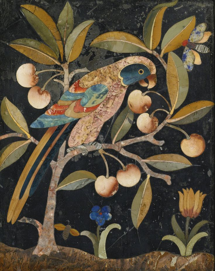 An Italian Baroque pietra dura panel, attributed to the Opificio delle Pietre Dure Florence, 17th century