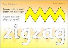 Words with 'z' playdough mats (SB8388) - SparkleBox