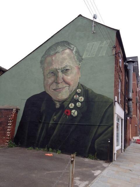 Sheffield graffiti.. David Attenborough